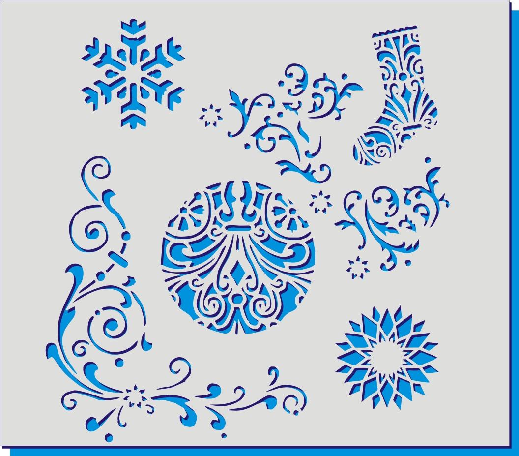 Новогодние узоры роспись